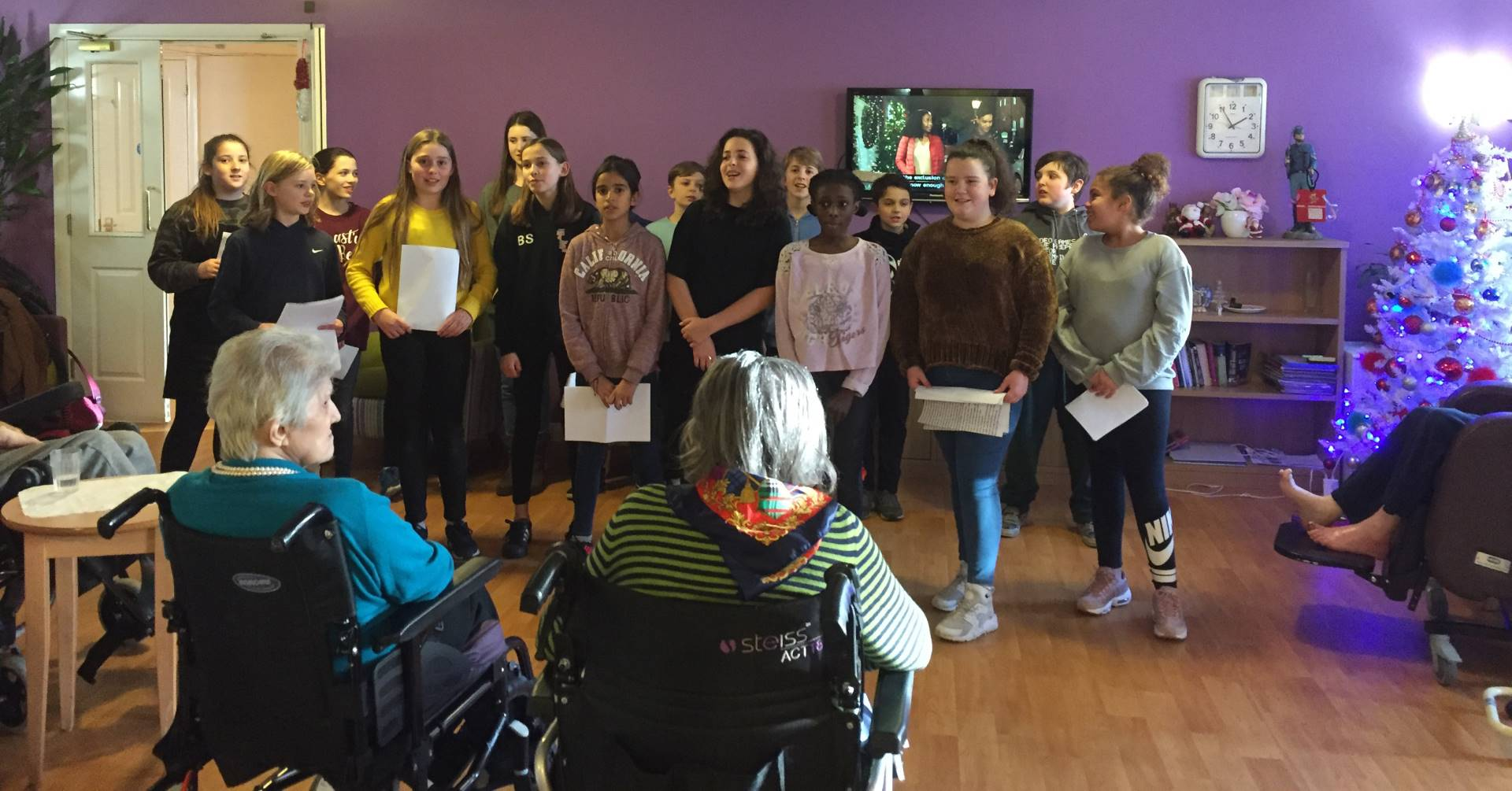 School choir at care home
